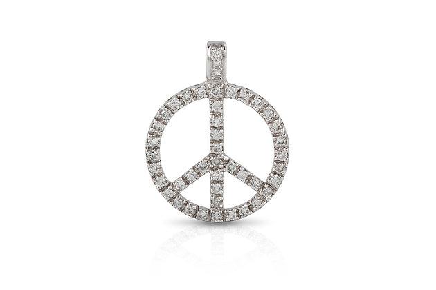 Diamond Peace Pendant Close-up View