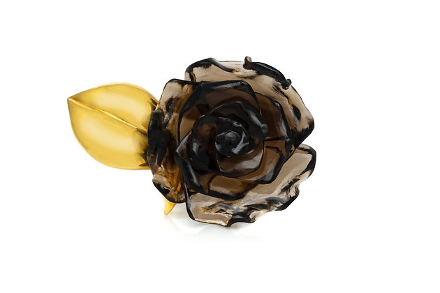 Flower Onyx Ring Front View