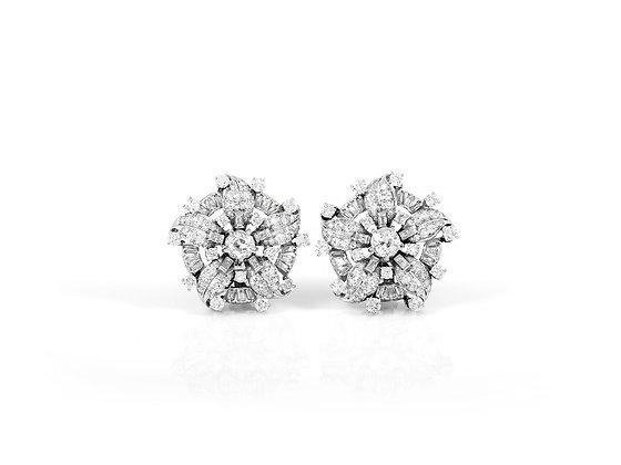 Diamond Earclip Earrings front view