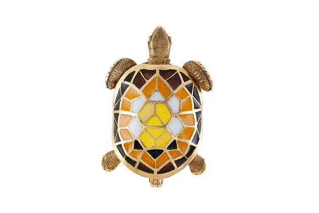 Gold Turtle Pin top