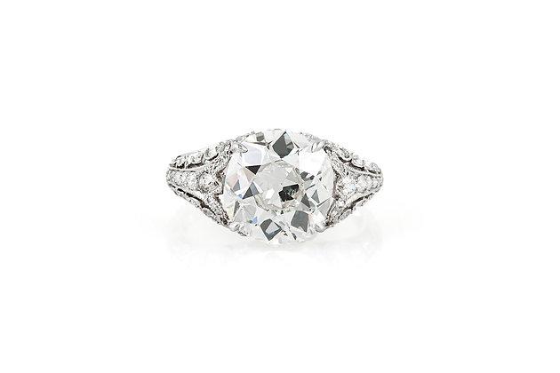 5.38 Carat Edwardian Engagement Ring top view