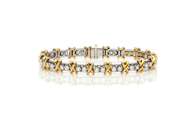 Tiffany & Co. Schlumberger Diamond Bracelet Front View