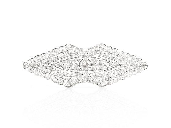 Edwardian Diamond Brooch front