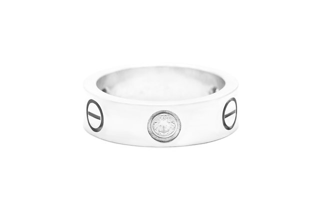 Cartier Love Ring with 3 Diamonds