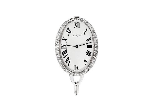 Bueche-Girod 6.00 Carat Diamond Pocket Watch front view