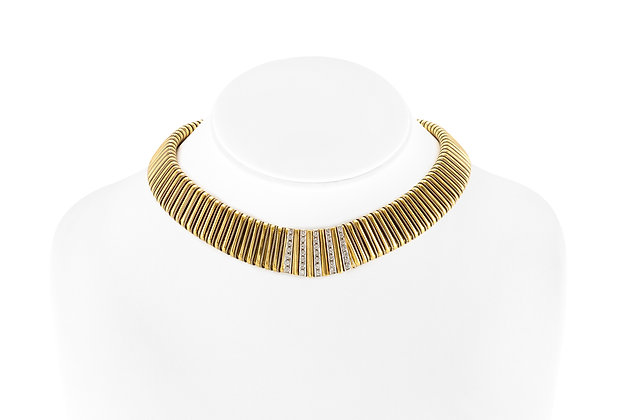 1960s Shrimp Style Choker with Five Rows of Diamond