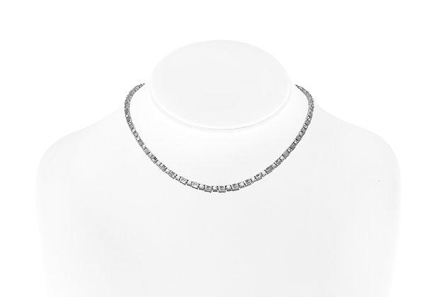 Stunning Diamond Necklace On Neck View