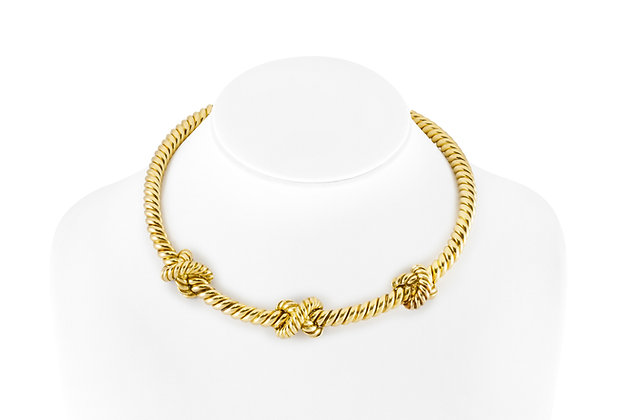 Gold Collar Necklace front