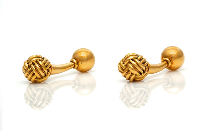 Knot Cufflinks Front View