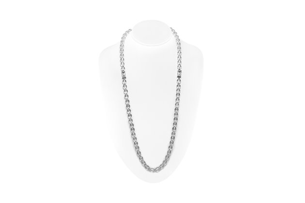 David Webb Long Crystal Diamond Necklace Front View