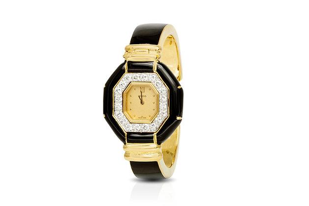 David Webb Diamond Gold Watch front view