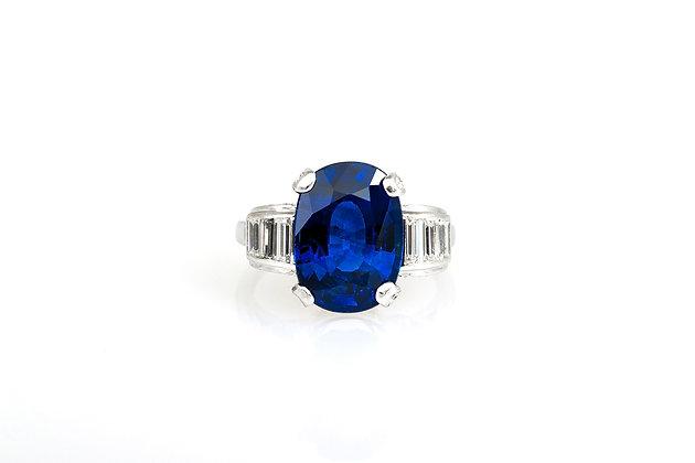 8.16 Carat Oval Cut Sapphire Ring