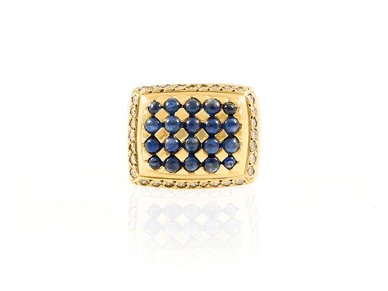 Sapphire and Diamond Men Ring