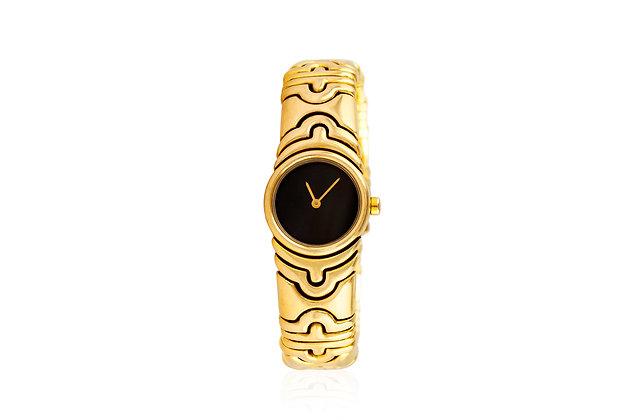 Bvlgari Parentesi Gold Watch Front View
