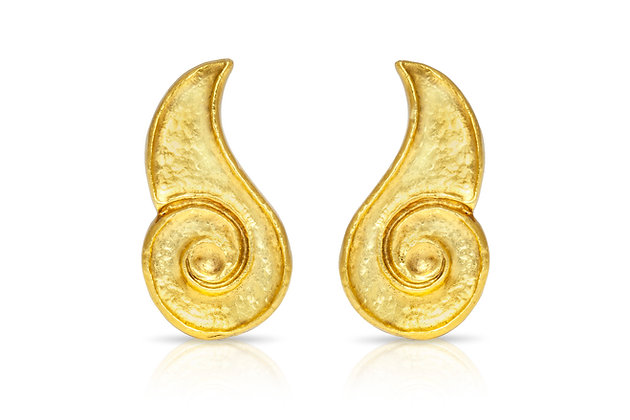 Lalaounis Gold Earrings Front View