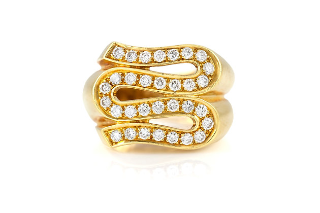 Versace Gold Ring with Diamonds top