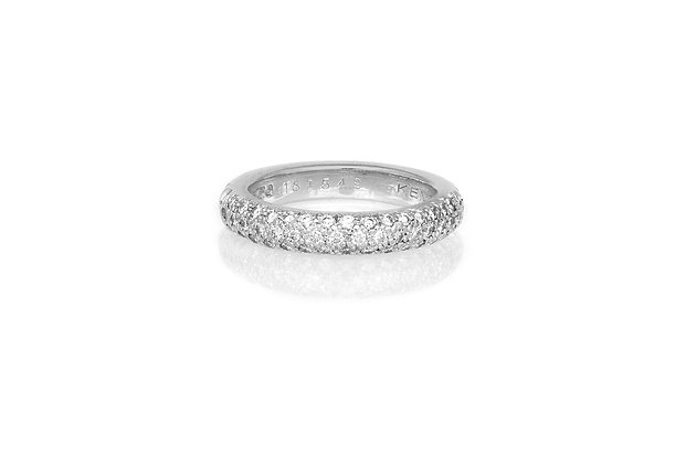 Chanel Pave Diamond Band top view