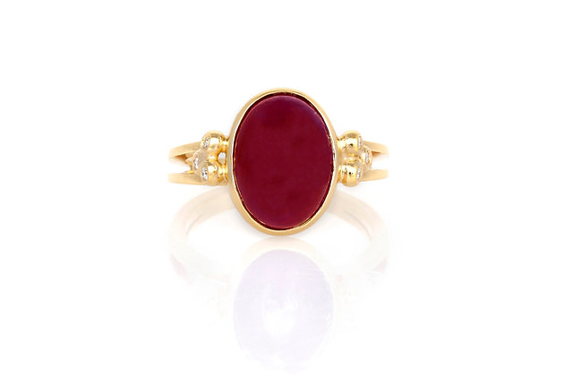 Ruby Ring Front View