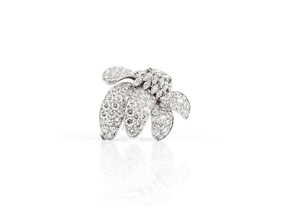 8.50 ct Diamond Brooch front