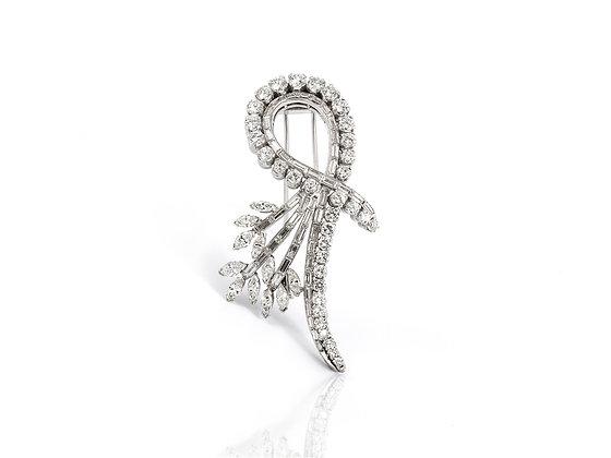 9.00 ct Vintage Diamond Brooch front