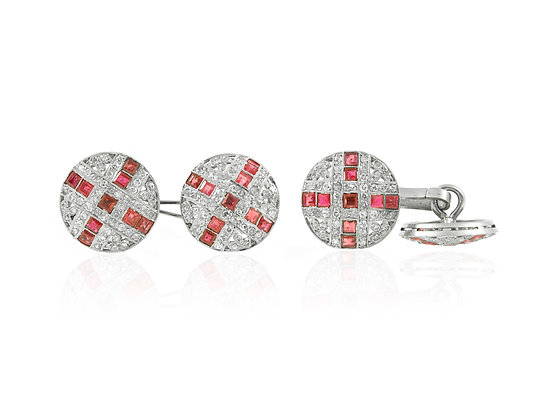 Diamond and Ruby Cufflinks