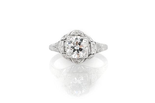 1.50 Carat Art Deco Engagement Ring
