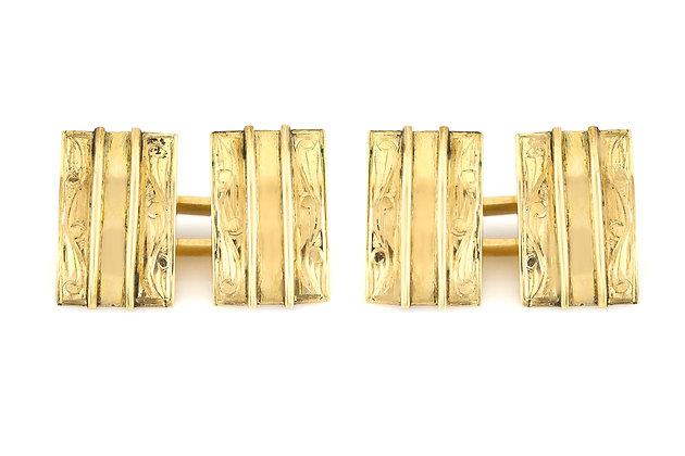 Gold Cufflinks front