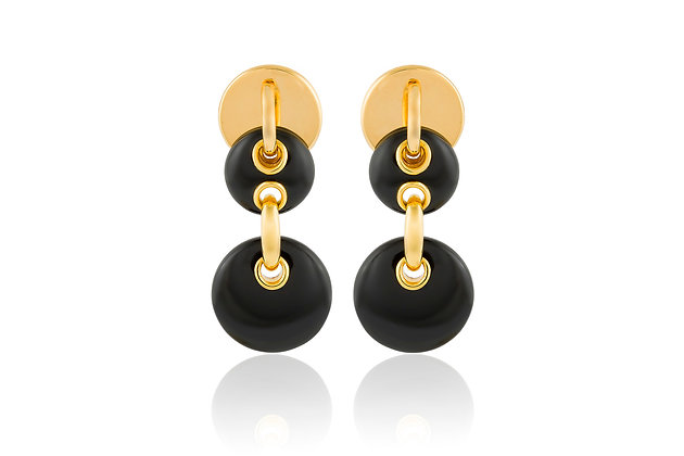Cartier Aldo Cipullo Onyx Earrings