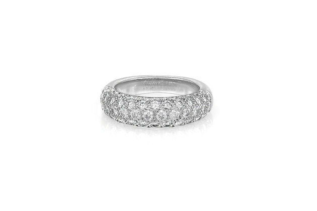 Cartier Partial Pave Band Ring