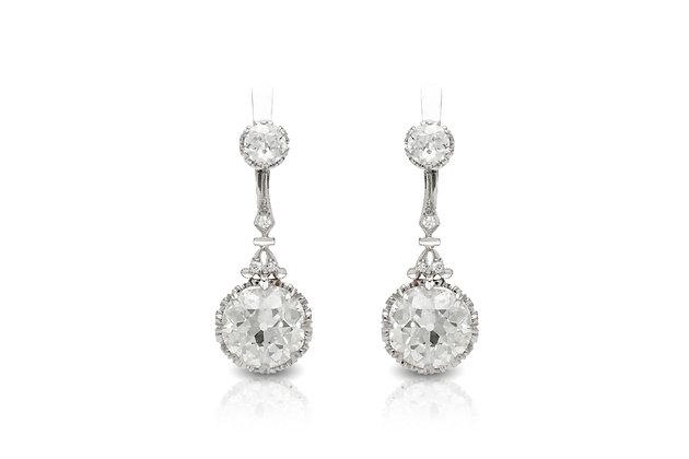 1920's Drop Diamond Earrings