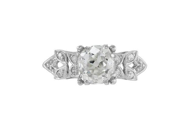 1.17 Carat Art Deco Diamond Ring