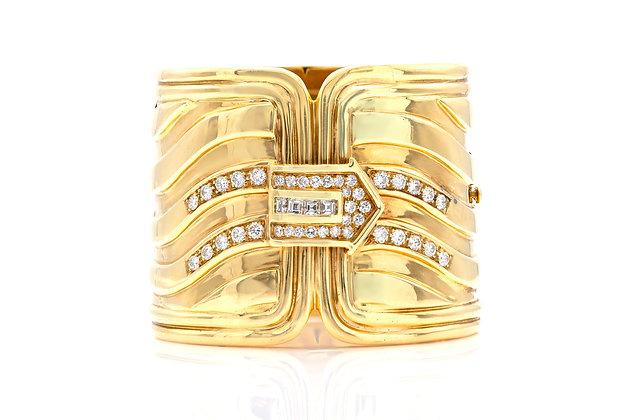 Gold Cuff with Diamonds