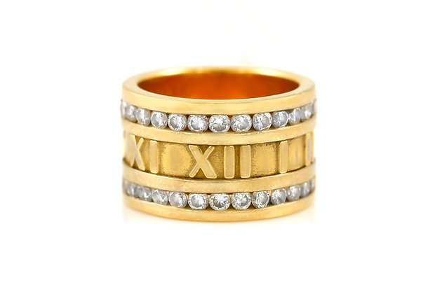 Tiffany & Co. Atlas Numeric Diamond Ring front view