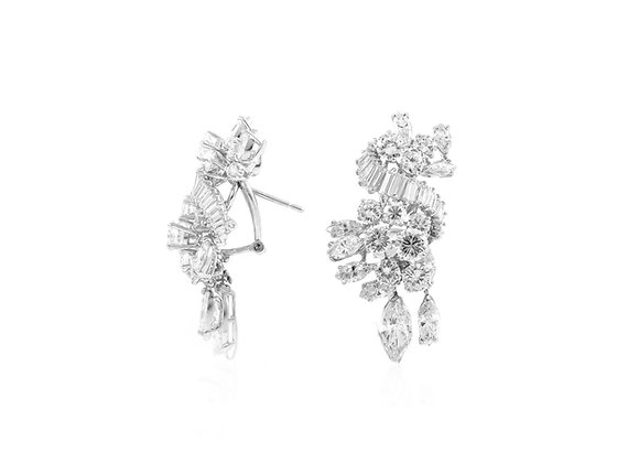 Diamond Clip-on Earrings front view
