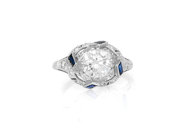 1.35 Carat Art Deco Engagement Ring