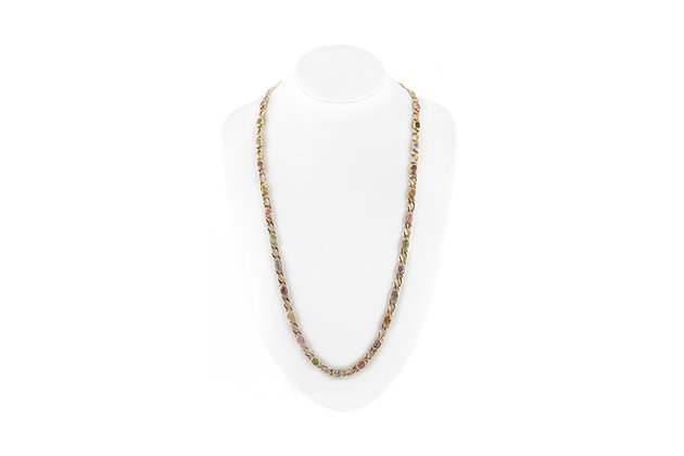 Multicolor Tourmaline Necklace bust