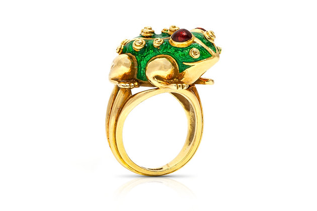 David Webb Frog Ring Front View