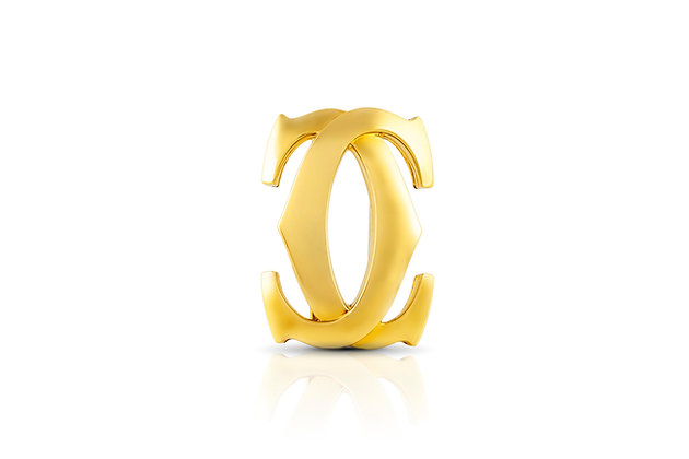 Cartier Double C Brooch Front View