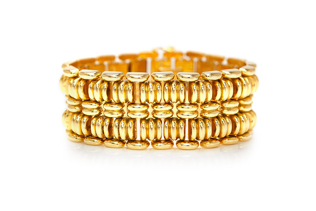 1940's French Gold Bracelet Front View