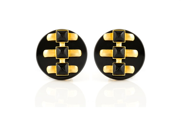 Cartier Earrings Aldo Cipullo Onyx front