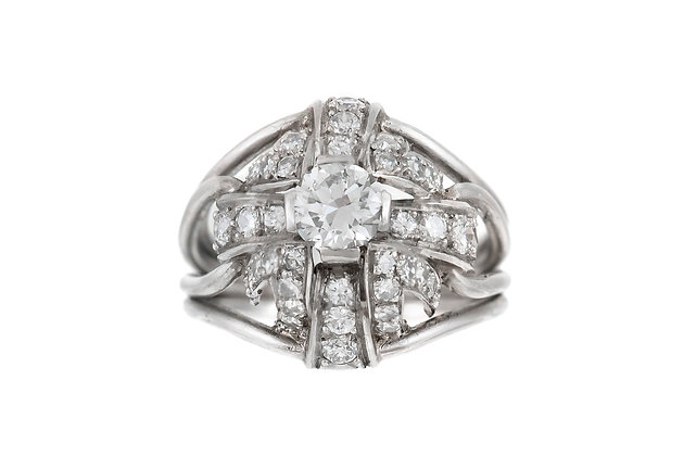 1940's 1.50 carat Platinum Ring