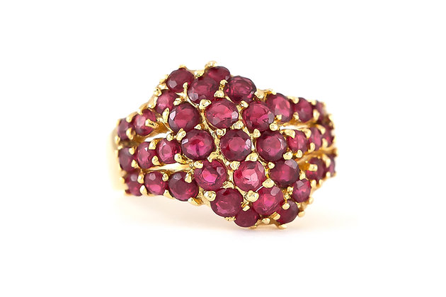 1980s 14K Gold Ring with Rubies
