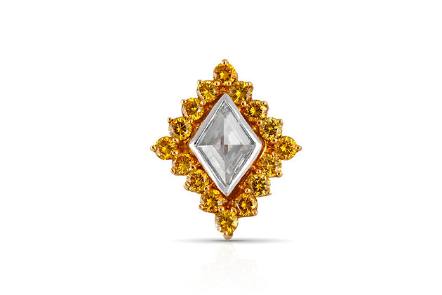 Diamond Shaped Pendant With Halo Front View