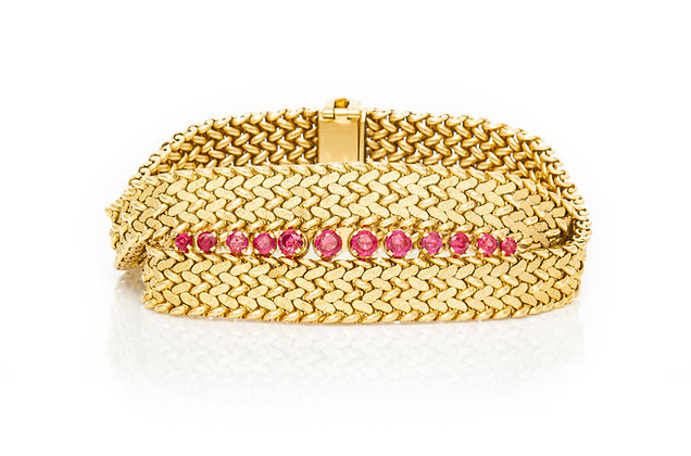 Tiffany & Co. Gold Bracelet with Rubies