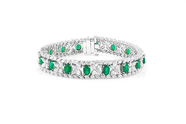 emerald diamond bracelet front