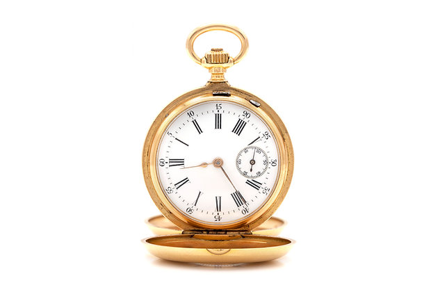 French Pocket Watch with Blue Enamel