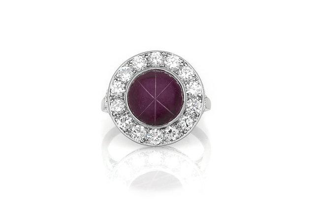6.00 Carat Art Deco Star Ruby Ring