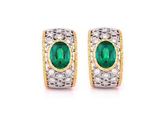 Buccellati Emerald Earrings front