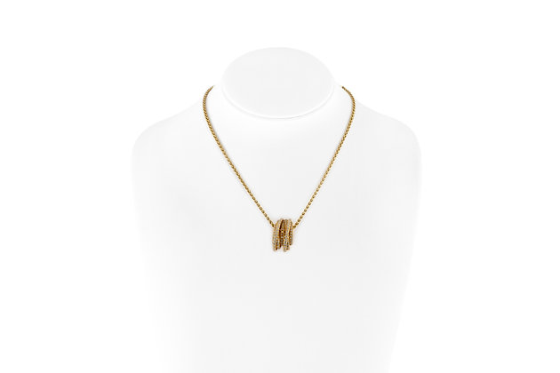 Grisogono Gold Necklace with Diamond Pendant front