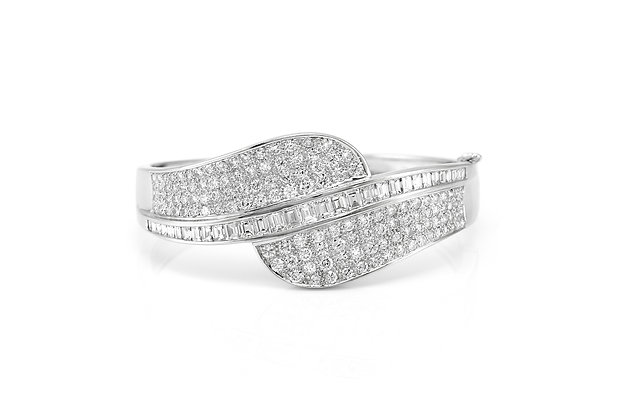 Diamond White Gold Bracelet from view